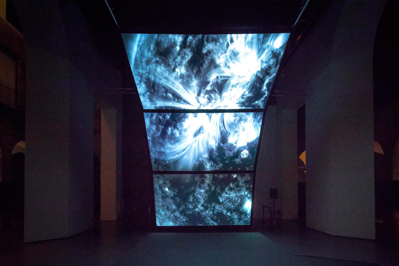 Installation of the artist Rioichi Kurokawa